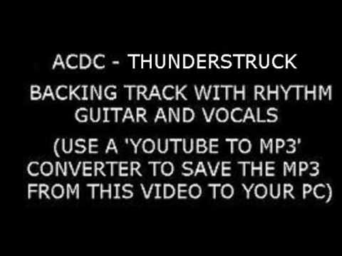ACDC THUNDERSTRUCK Backing Track With VOCALS and RHYTHM GUITAR ...
