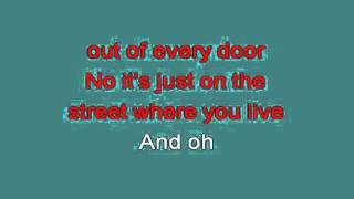 ON THE STREET WHERE YOU LIVE 715257 [karaoke]