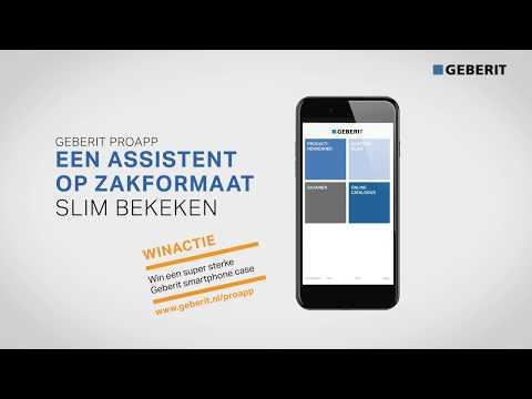 Geberit ProApp, een assistent op zakformaat