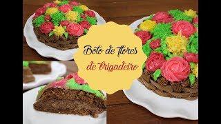 BRIGADEIRO EM PONTO DE BICO | BOLO FLORES DE BRIGADEIRO | Bem Vindos à Cozinha | Receita 95
