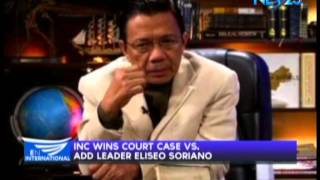 INC wins court case vs ADD leader Eliseo Soriano