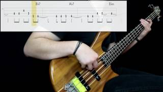 Marvin Gaye - I Heard It Through The Grapevine (Bass Cover) (Play Along Tabs In Video)