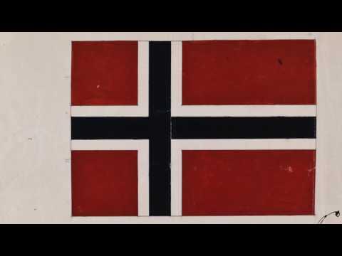 Norges dokumentarv: Første tegning av det norske flagget