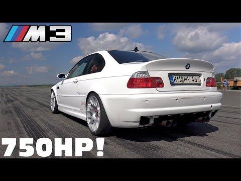 750HP BMW M3 E46 VORTECH V7 SUPERCHARGER 1/2 Mile @ 270 KM/H