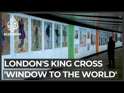 London station tunnel turned into art gallery