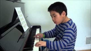 Gavotte In G Major - G.F. Handel - Pianist Minh Dang - 7yr old.