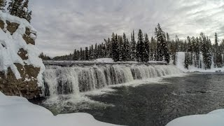 Cave Falls Snowmobiling - Yellowstone National Park width=
