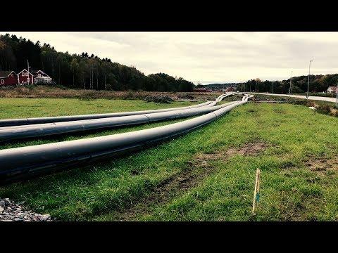 Kungälvs vattenverk och överföringsledningar hösten 2017