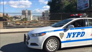 COMPILATION OF NYPD POLICE UNITS RESPONDING IN VARIOUS NEIGHBORHOODS OF NEW YORK CITY.  16