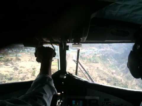 Landing at Lukla Airport