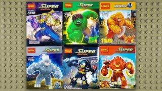 LEGO Marvel Big Figures Thanos Hulk Thing Rhino Hulkbuster (knock-off) DECOOL