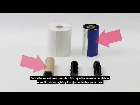 Cómo colocar el ribbon en una impresora de etiquetas de transferencia térmica