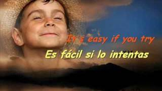 IMAGINE - IMAGINA - JOHN LENNON (CON LETRA INGLÉS Y CASTELLANO)