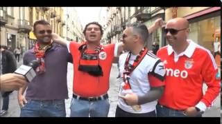 Adepto possuído Benfica em Turim