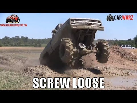 SCREW LOOSE Mega Truck At Red Barn Customs Mud Bog 2018