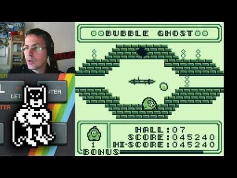 Uno clásico de los cartuchos piratas de GB: Bubble Ghost (Infrogames/Pony Canyon) Gameboy