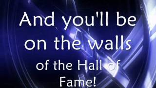 The Script ft. Will.i.am - Hall Of Fame (lyrics on screen)