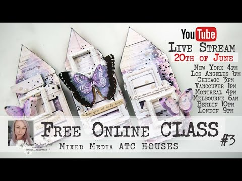 Free Online Class from Maremi ~ 🏘 ATC HOUSES ~ Mixed Media #3