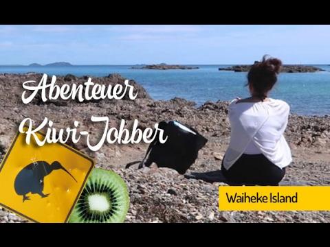 Kiwi Jobberin Miryam auf Waiheke Island