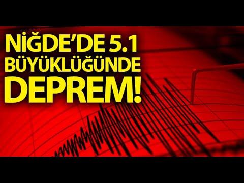 Niğde'nin Bor İleçsinde 5.1 Büyüklüğünde Deprem