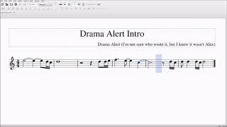 Drama Alert Intro Alto/Bari Sax Sheet Music