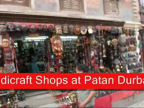 Handicraft shops. Patan Durbar Square.
