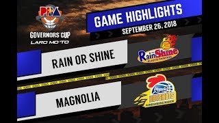 PBA Governors' Cup 2018 Highlights: Rain or Shine vs Magnolia Sept. 26, 2018
