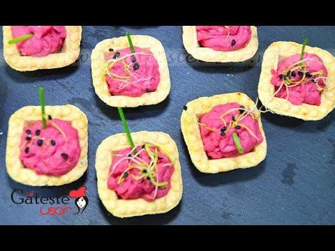 Pasta de Fasole cu Sfecla Rosie