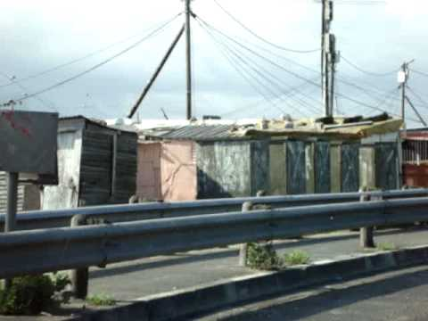 driving through Khayelitsha, Cape Town's largest township