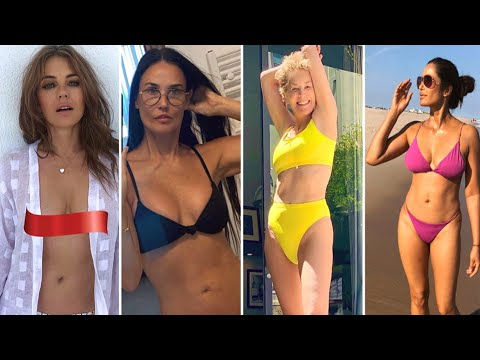 How Celebrities Over 50 Keep Up Their Beach Bodies