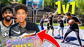 1vs1 KING OF THE COURT BASKETBALL ft. 2HYPE HOUSE - NEW Kyrie 6s!