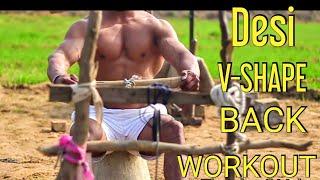 DESI - V-shape Back Workout⚫||Beginners Series ||Lesson 1||Vipin Yadav||
