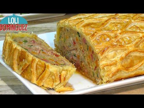 ROLLO DE CARNE PICADA CON VERDURAS EN HOJALDRE. Loli Domínguez. paso a paso, tutorial. meat roll