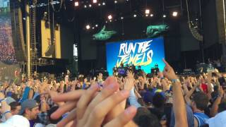 Run The Jewels fan raps on stage at Lollapalooza