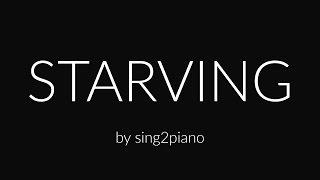 Starving (Piano Karaoke Instrumental) Hailee Steinfeld, Grey & Zedd