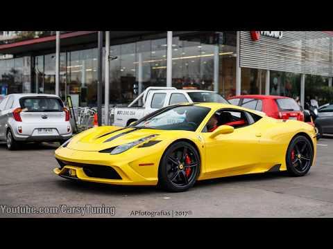 Left Chile: Yellow Ferrari 458 Speciale