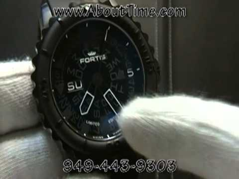 Fortis B-47 Big PVD Black Watch Video From About Time Watch Company