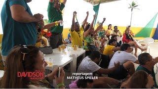 Torcida vibra com mais uma vitória da Seleção no Espaço Sou mais Brasil