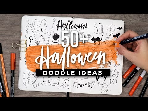 50+ Halloween Doodle Ideas! SPOOKY DOODLE WITH ME | #MadeWithRush