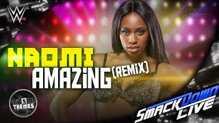 Naomi 7th & NEW WWE Theme Song 2016 - ''Amazing'' (Remix) [RECORDING] ᴴᴰ