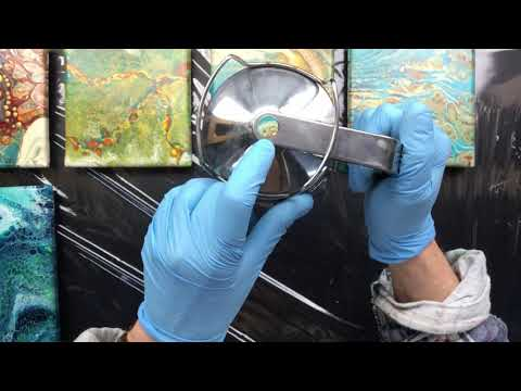 ( 901 ) Acrylic pouring tips and dried paintings ( part 2 of 3 )