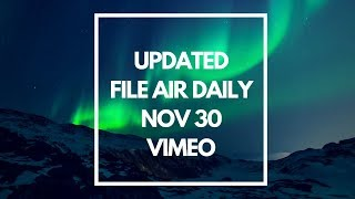 RE-UPLOADED AIR DAILY EXTENDED READING NOVEMBER 30