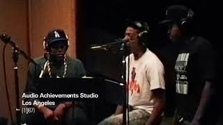 "Unseen Footage N.W.A Recording ""Fuck Tha Police"" in the studio 1987"