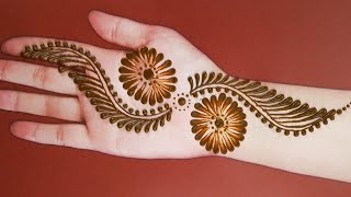 Easy Mehndi Designs For Front Hands Simple Henna Designs Easy