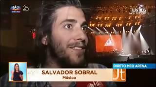 Salvador Sobral -  'Juntos por Todos' backstage interview [Portuguese] 27-06-2017