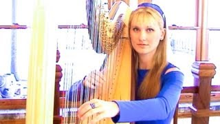 COLDPLAY - Clocks (HarpTwins) Camille and Kennerly HARP ROCK