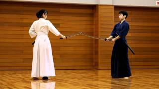 Nihon Kendo Kata with Nihon tô (kodachi) in Uji (Japan)