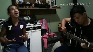 Primeiro clipe: Amigas pra sempre, Yasmim e Samuel no violão