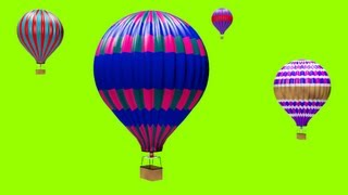 GREEN SCREEN FREE FOOTAGE OF HOT AIR BALLOONS. FREE TO USE IN YOUR PROJECT