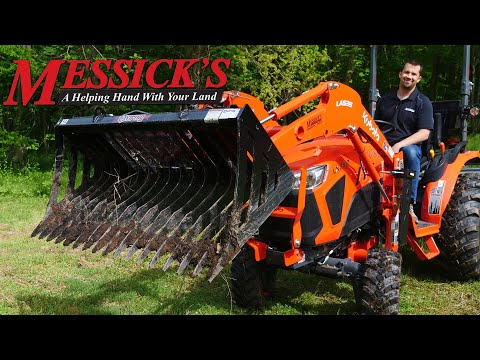The many uses for a Skeleton Bucket | Virnig V30 Rock Bucket on Kubota LX3310 Picture
